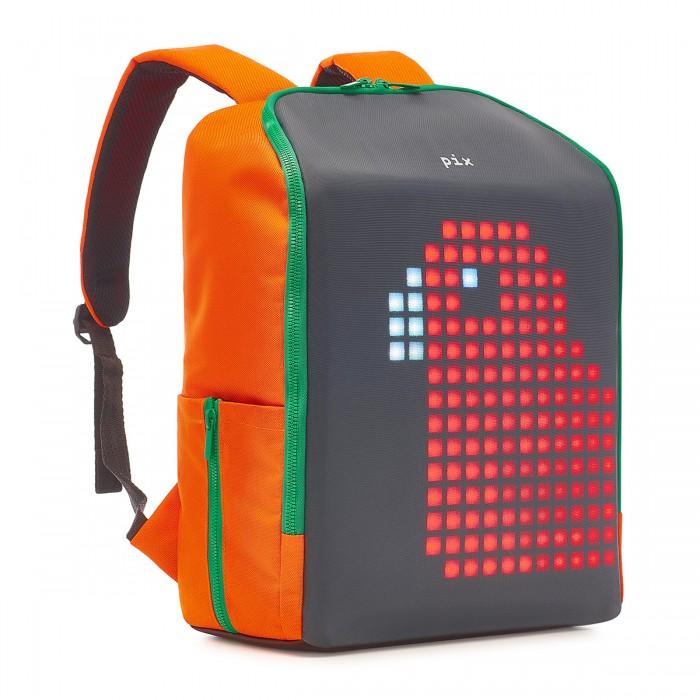 Рюкзак с LED экраном Pix Mini морковный