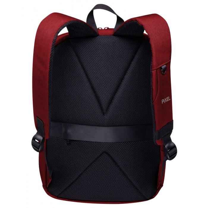 Рюкзак с LED-дисплеем Pixel Max бордовый