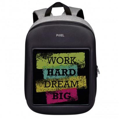 Рюкзак с LED-дисплеем Pixel One серый