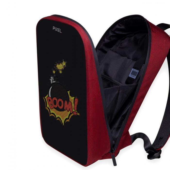 Рюкзак с LED-дисплеем Pixel Plus бордовый